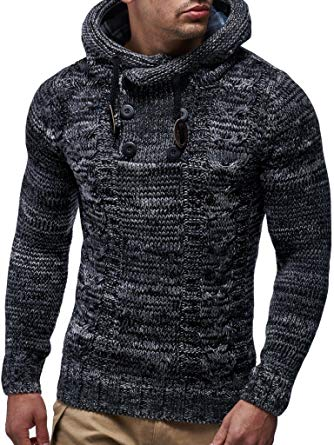 Leif Nelson LN20227 Men's Knitted Pullover at Amazon Men's Clothing