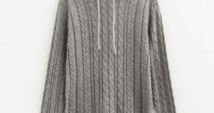 Jumper Autumn Warm Hoodies For Women Ladies Black Woman Knitted