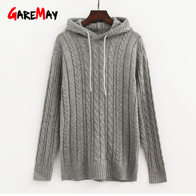 Choice end for winter with knitted hoodie