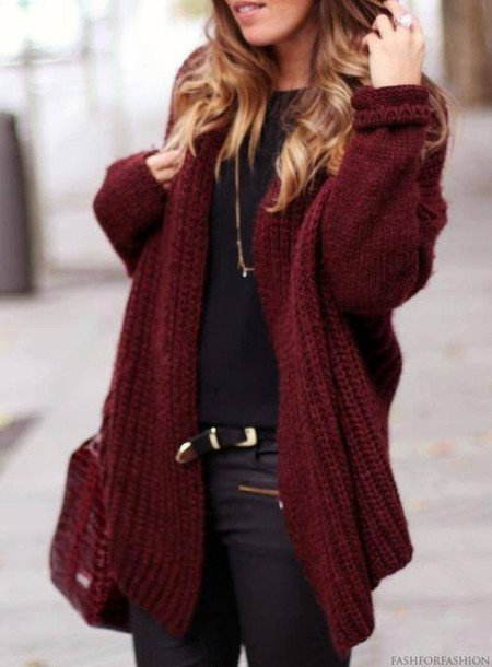 jacket, red, burgundy, pull, pullover, knitwear, boho, clothes