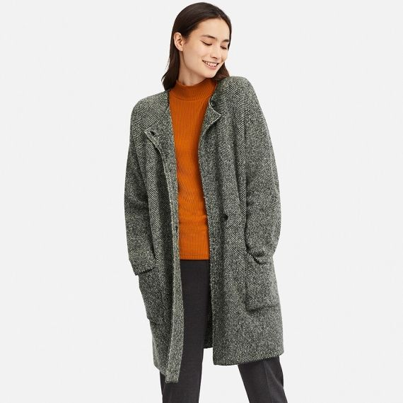 WOMEN Tweed Knitted Coat - Jackets & Coats - OUTERWEAR - WOMEN | UNIQLO