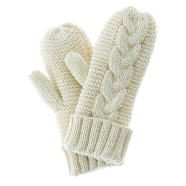 Cream Knitted Mittens with Hand Cream u2014 Not Another Bunch Of Flowers