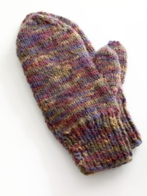 Lion Brand Yarn Free Knitting Pattern: Easy-Knit Mittens | Knitting