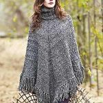 A Gorgeous Look in the Knitted Poncho