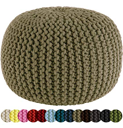 Amazon.com: Cotton Craft - Hand Knitted Cable Style Dori Pouf