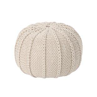 Knit Pouf Ottoman | Wayfair