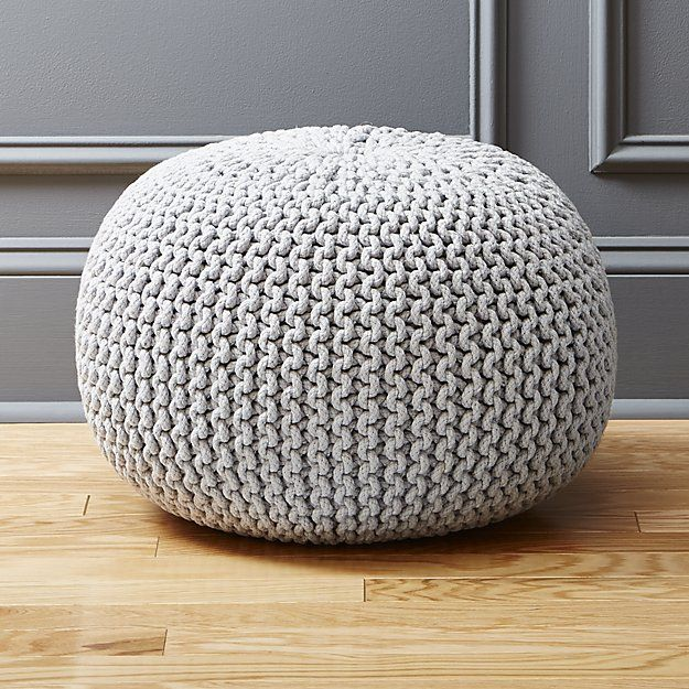 Knitted silver grey pouf | home things | Pinterest | Room, Living