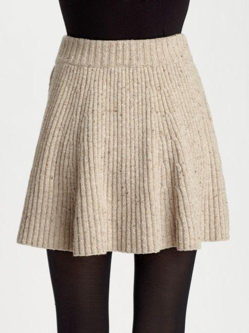 twirly knit skirt | Knitted Things | Pinterest | Knitting, Knit