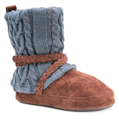 Women's MUK LUKS® Judie Cable Knit Slipper Boots : Target