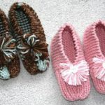 Knitted slippers-New idea to keep legs   warm