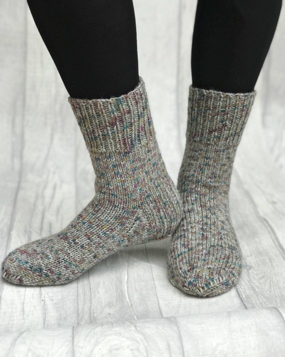 Knitted Men Socks Hand Knit Socks Hand Knit Mens Wool | Etsy