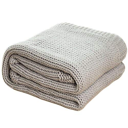 Amazon.com: Bedsure Knitted Throw Blanket for Sofa and Couch