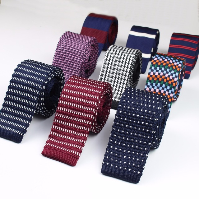 Fashion Men's Colourful Tie Knit Knitted Ties Necktie Narrow Slim