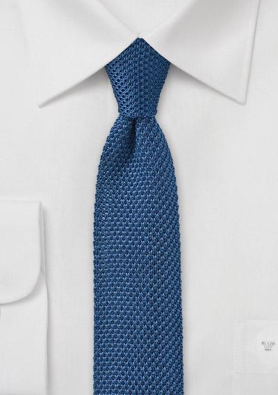 Marine Blue Knitted Tie | Bows-N-Ties.com