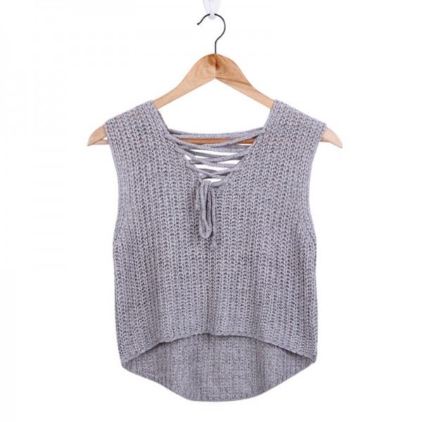 Buy New Autumn Knitted Tops T Shirts Women Sexy V Neck Sleeveless
