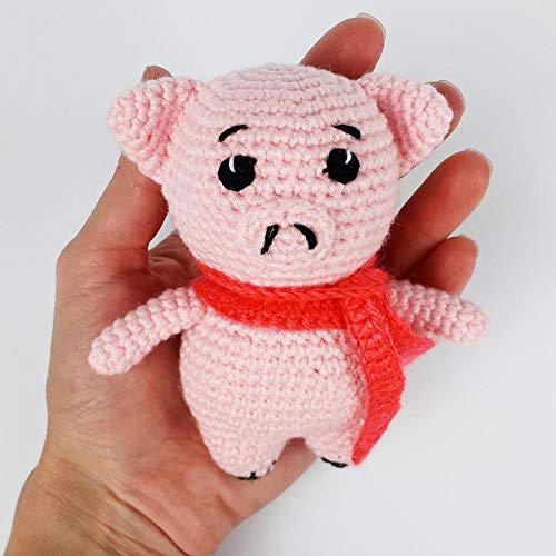 Amazon.com: Knitted Pig, Pig, Pig Red, Soft Toys, Knitted Toys, New