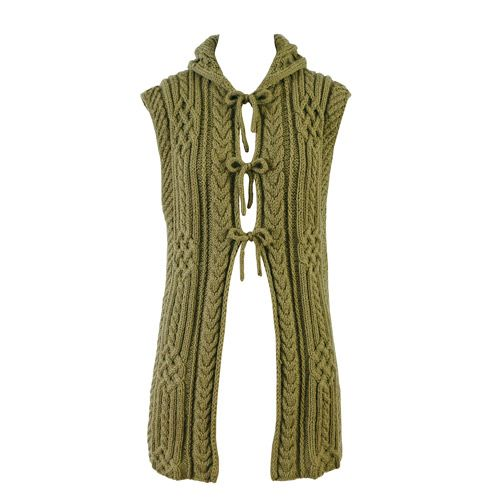 Celtic Irish Cable Knitted Vest By Baiba Dzelme