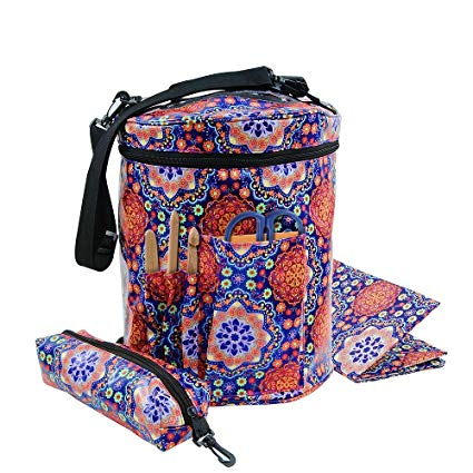 Amazon.com: Durable Knitting Bag with Inner Divider Yarn Storage