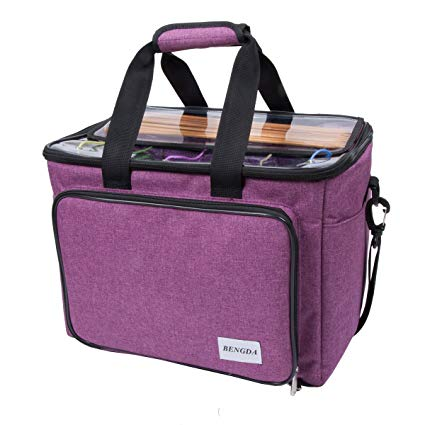 Amazon.com: Knitting Bag, Yarn Tote Organizer with Inner Divider for