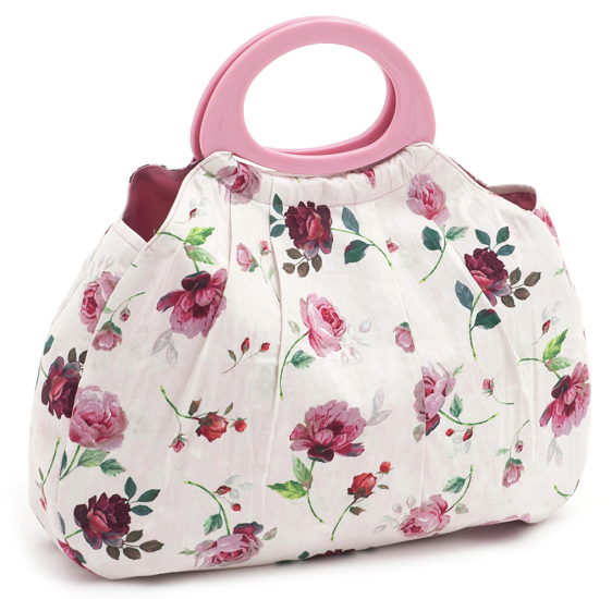 Rosewater Gathered Knitting Bag