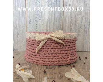 Knitting basket | Etsy