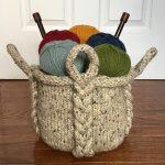 Stylish and Functional Knitting Basket