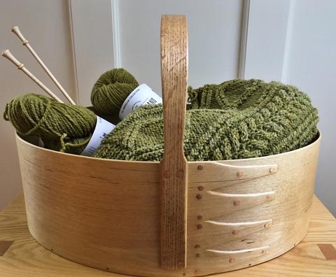 Shaker Style (Knitting) Basket u2013 Fiber of Maine