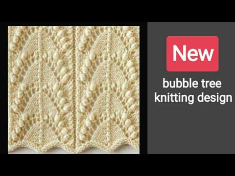 Knitting Patterns Bubble tree cardigan knitting design in hindi
