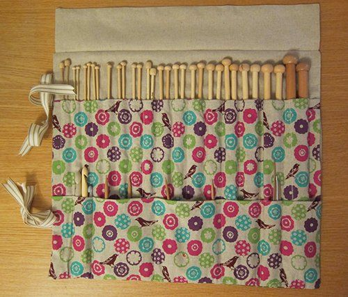 Knitting Needle Case - Tutorial | Guthrie & Ghani | Sewing projects