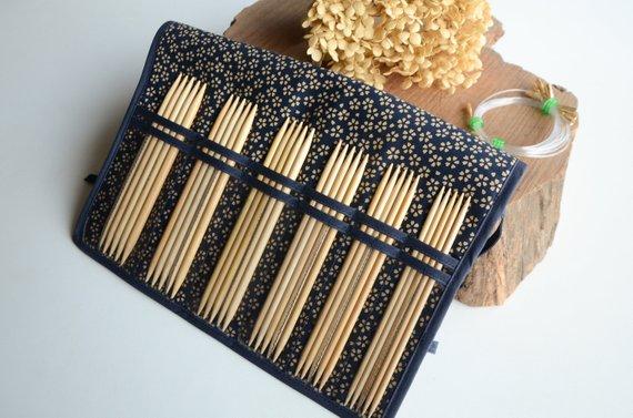Seeknit KA Knitting Needle Cases Storage Organizer Double | Etsy