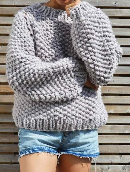 Seed Bubble Sweater Pattern - Digital Download u2013 KNIT SAFARI