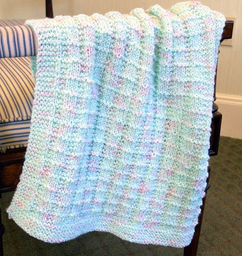 26 Free Baby Blanket Knitting Patterns - Ideal Me