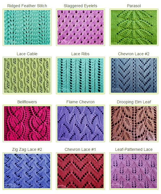 Over 50 Eyelet & Lace Stitches. Whether you are a beginning lace