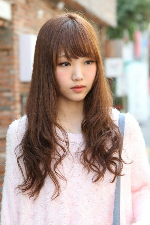 Cute Korean Hairstyle for Long Hair | Korean Hair | Pinterest | Hair
