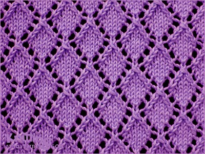 Openwork Diamonds - Pattern 1 - Knitting Stitch Patterns