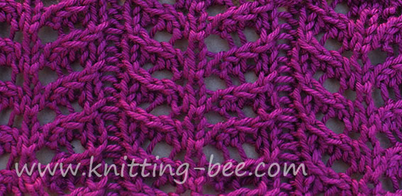 Branch Lace Knitting Stitch Pattern ⋆ Knitting Bee