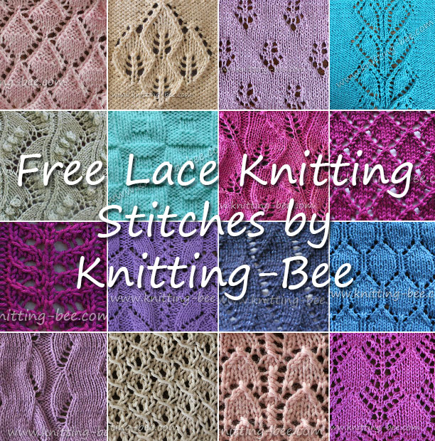 38+ Free Knitting Lace Stitches with Written Patterns (54 free