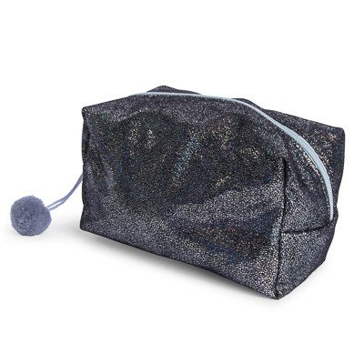 black glitter foil makeup bag | Five Below