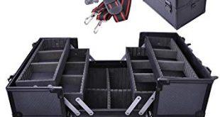 Amazon.com : Professional Large Black Aluminum Cosmetic Box Train