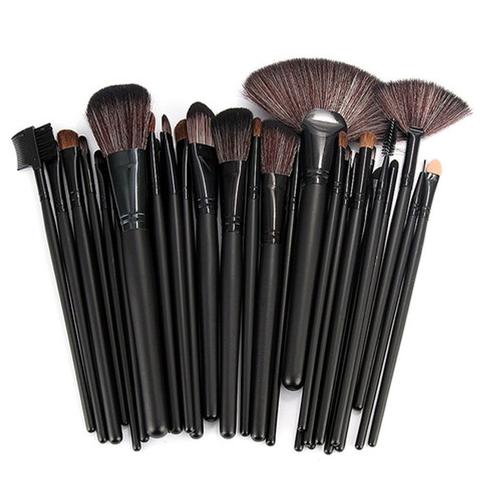 32 Piece Makeup Brush Set with Case in BLACK u2013 My Make Up Brush Set