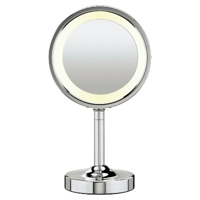 Conair Double-Sided Lighted Makeup Mirror With 5X Magnification : Target