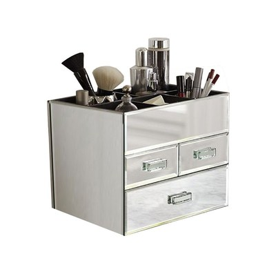 How does a makeup organizer keep your   makeup in place?