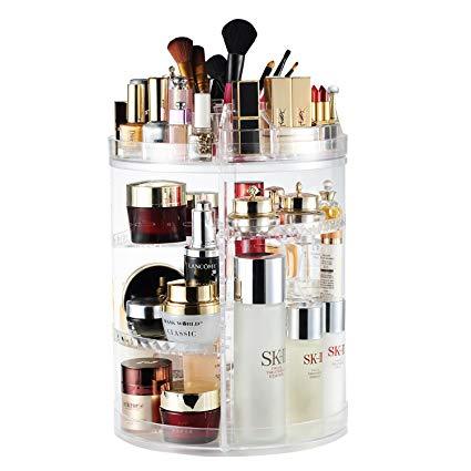 Amazon.com: AMEITECH Makeup Organizer, 360 Degree Rotating