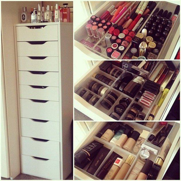 12 IKEA Makeup Storage Ideas You'll Love | Makeup Organizer