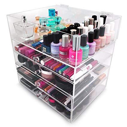 Amazon.com: Sorbus 5-Tier Acrylic Cosmetic and Makeup Storage Case