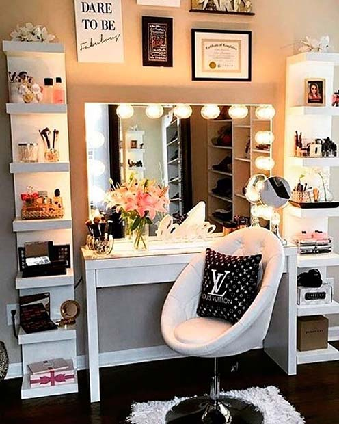 23 Must-Have Makeup Vanity Ideas | StayGlam
