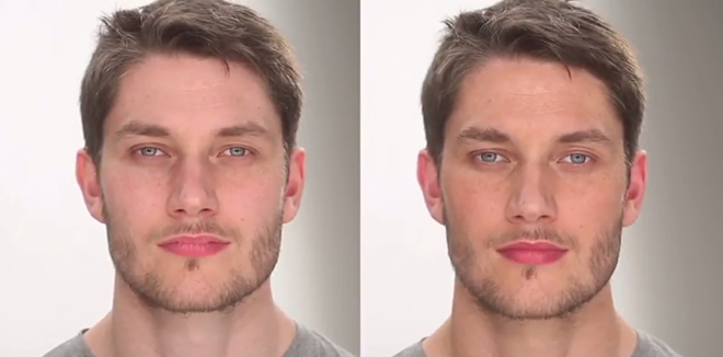 Subtle 'undercover' make-up for men: a groomed, healthy look