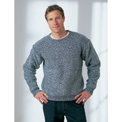 Men's Dropshoulder Sweater Free Knitting Pattern ⋆ Knitting Bee