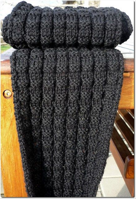 Free knitting pattern for Christians Scarf and more knitting