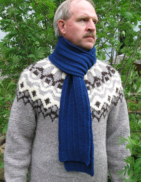 Men's Scarf Pattern - Knitting Patterns and Crochet Patterns from